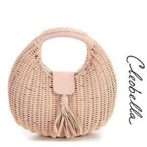 NWT Cleobella Olivia Wicker Bag Blush